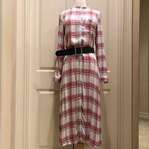 Treasure & Bond plaid Maxi dress size XS